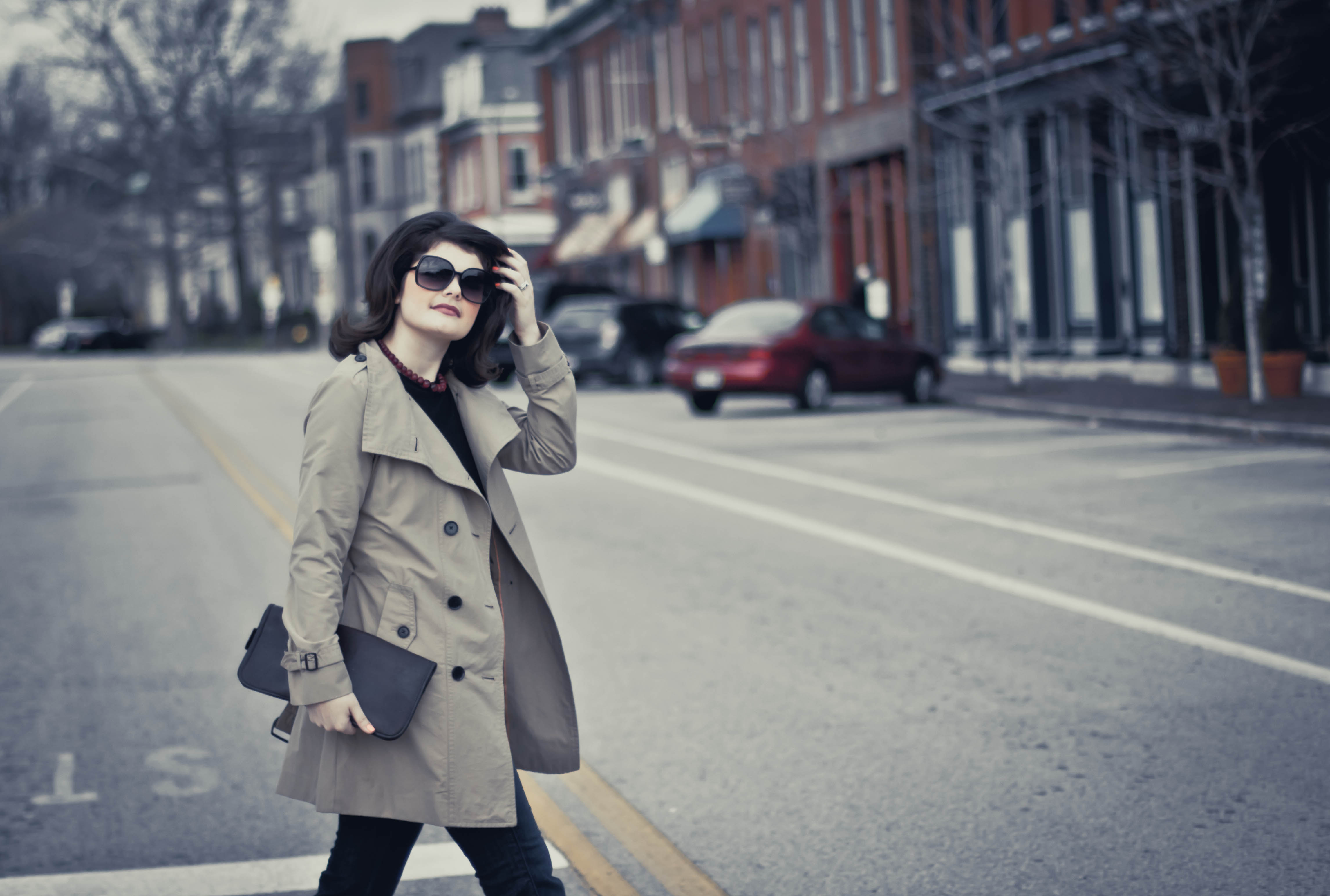 Jackie O Trench coat