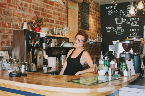 Jessie at Rise Coffee House