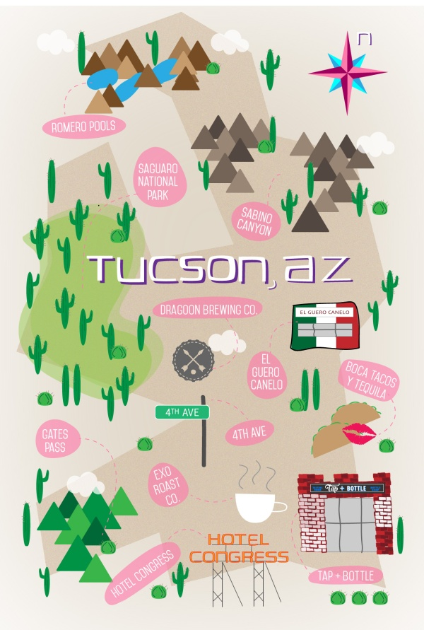 Tucson Map With Locations